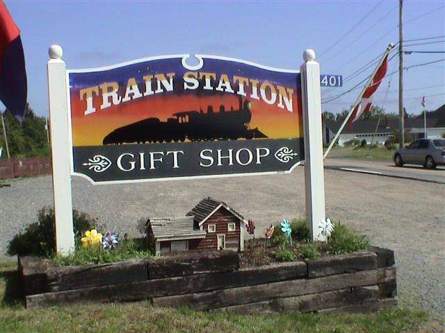 Train Station Gift Shop Sign