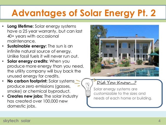 Solar Energy Installation Panel What Are The Advantages