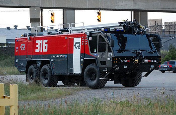 The fire truck that Sentinel Prime will be disguised as in TRANSFORMERS: DARK OF THE MOON.