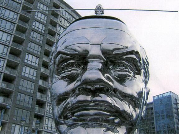 Lenin Statue Face