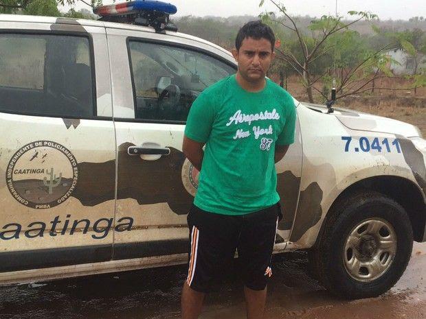 Nabiel Cordeiro da Silva, de 30 anos, escolheu cidade onde parentes moram para se esconder / Divulgação/Polícia Militar
