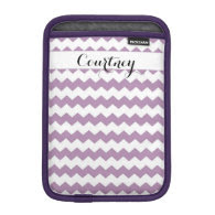Violet Chevron Personalized Ipad Mini iPad Mini Sleeve