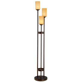 Shop Portfolio 62-in 3-Light Oil-Rubbed Bronze Floor Lamp with ...