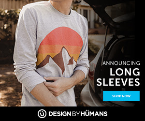 Shop long sleeve, graphic tees at DesignByHumans.com.
