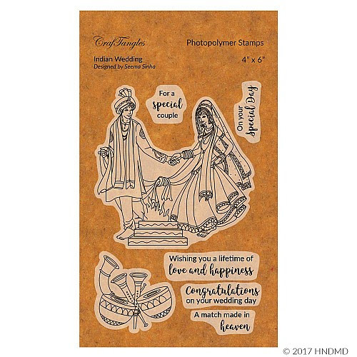 CrafTangles Photopolymer Stamps - Indian Wedding