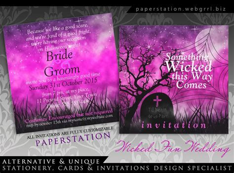 Wicked Fun Halloween Gothic Wedding Invitations
