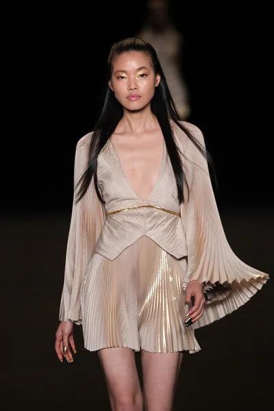 Modelo camina la pasarela de la moda meskita — Foto de Stock #52740015