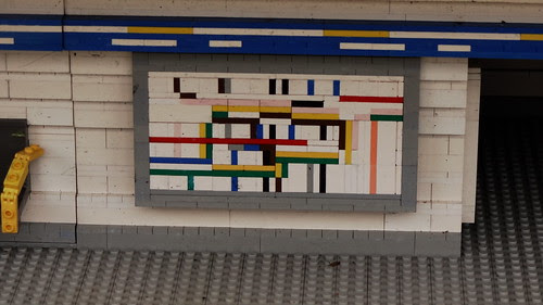 Lego tube (London underground) map  by Ben Sutherland