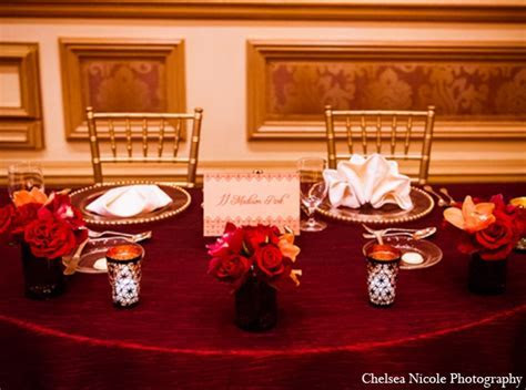 Indian Wedding in Red and Gold by Chelsea Nicole
