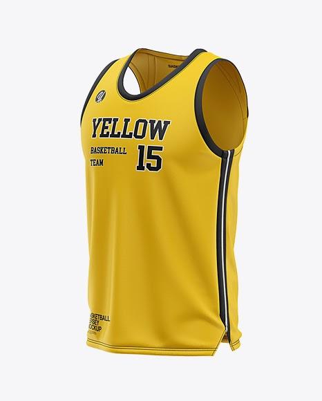 Download Free Men's U-Neck Basketball Jersey Mockup - Front Half ...