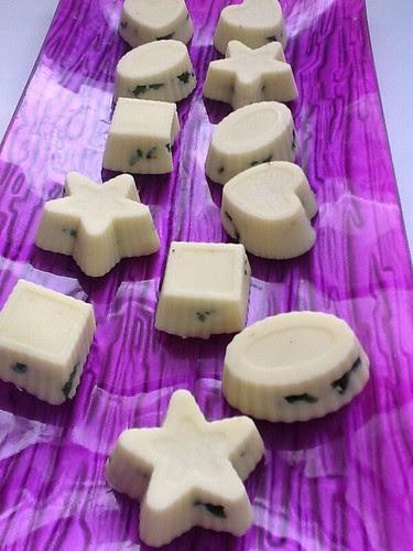 Bombones de Chocolate Blanco y Hierbabuena