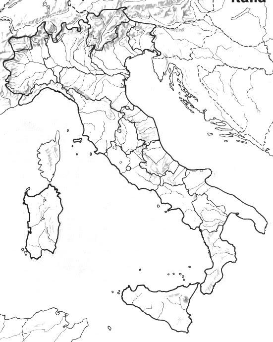 Cartina Politica Muta.Italia Fisica Da Stampare E Colorare Colorare Gratis