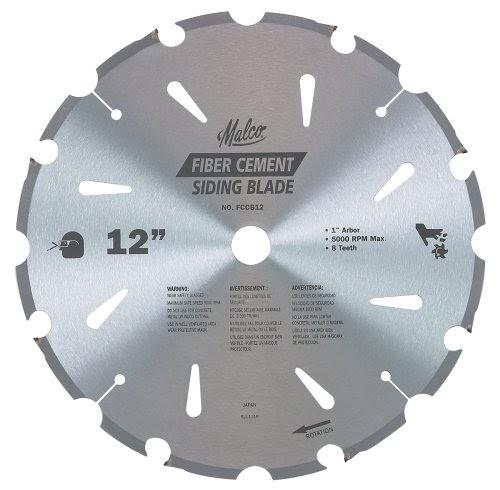 Malco Fccb12 12 Inch 8 Tooth Fiber Cement Diamond Saw