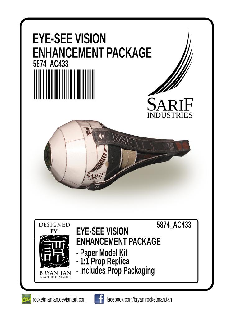 Eye-See Vision Enhancement Papercraft