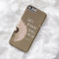Bible Verse: God is within her, she will not fall iPhone 6 Case