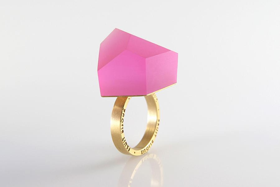 geometryczny pierścionek Fruit Bijoux Slow Fashion, trendy biżuteryjne 2015
