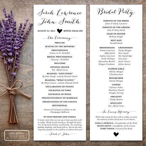 Printable Wedding Program Rustic   The Ellie Collection