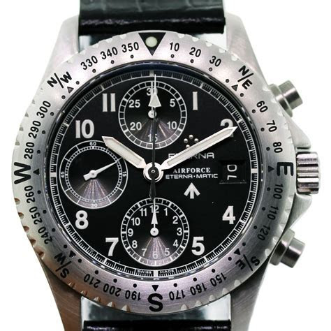 Eterna Chrono Airforce 8418.41.40.1106 Chronograph Men's Watch