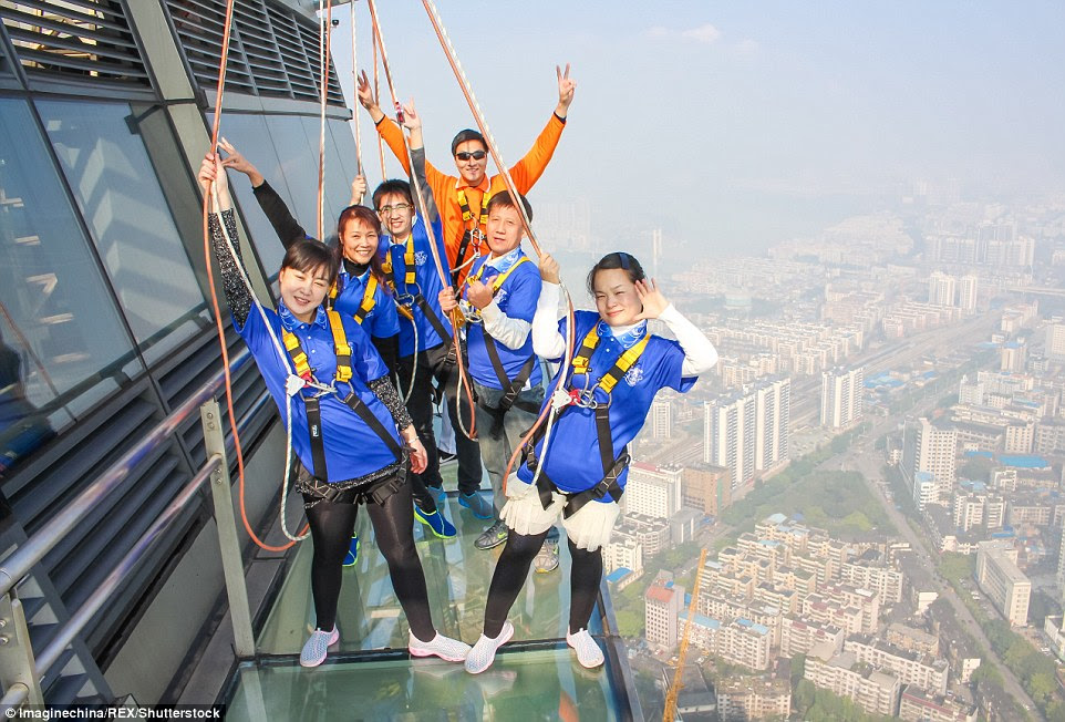The experience is said to be closely observed by safety officials, with two security instructors accompanying five tourists during each session