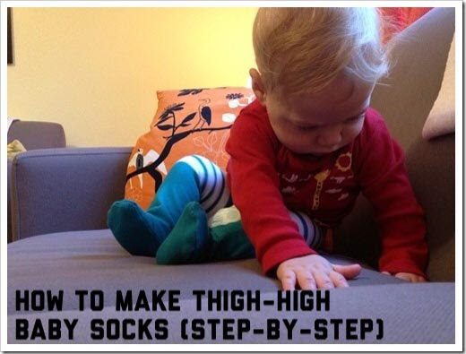How To Make Thigh High Baby Socks Step By Step Tutorial Joyful Abode