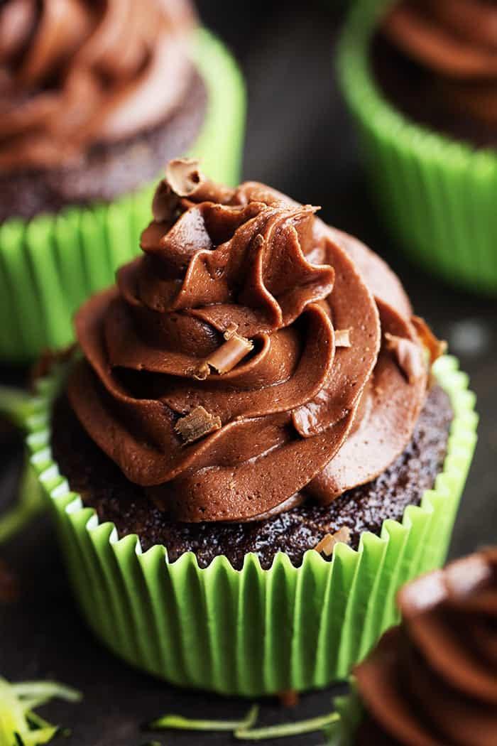 Chocolate Zucchini Cupcakes with Chocolate Cream Cheese ...