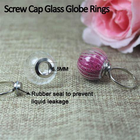 perfume sprayer glass globe necklace carved resin flower