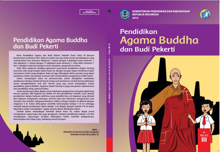 Download Gratis Buku Siswa Pendidikan Agama Budha Dan Budi Pekerti Kelas 3 SD Kurikulum 2013 Format PDF