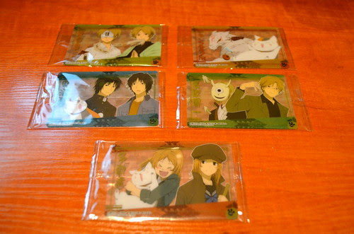 Cards from Natsume wafers.