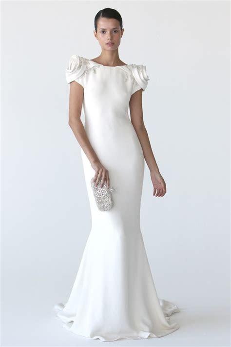 Peach Wedding Dress with Sleeves