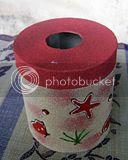 souvenir kotak Tisu Pasir Bulat