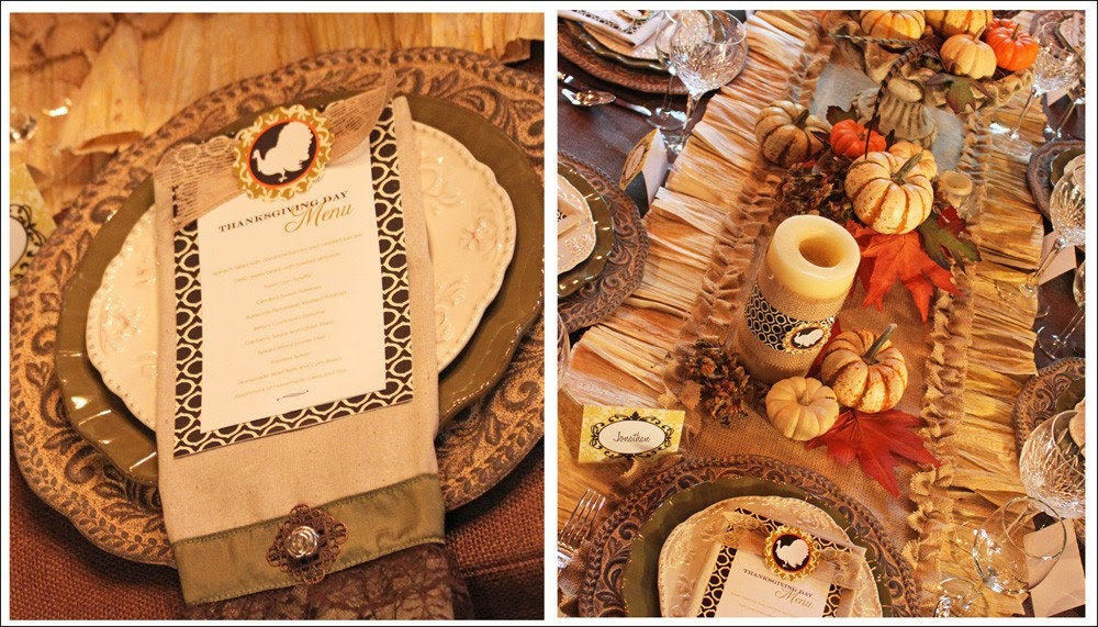 Sale - Gorgeous Thanksgiving Printables Package --  Over 60 Percent Off