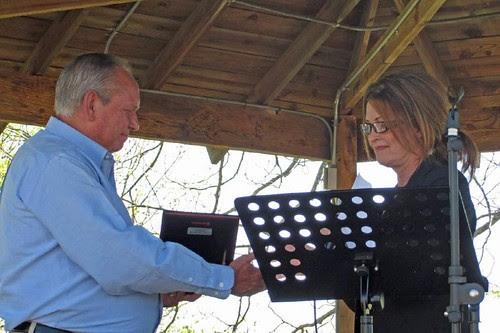 Mayor McKee and Tracy Douglass