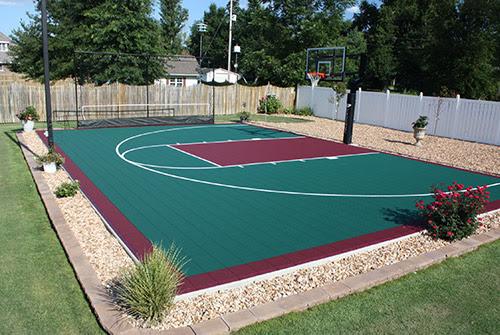 Tour Greens Western New York Backyard Basketball Court Installers
