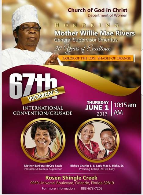 COGIC Set To Honor Mother Willie Mae For The Last Time On