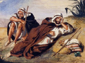 A fragment of 'The Arabs of Oranby' by Eugene Delacroix. (Image from http://galerieschmit.com)