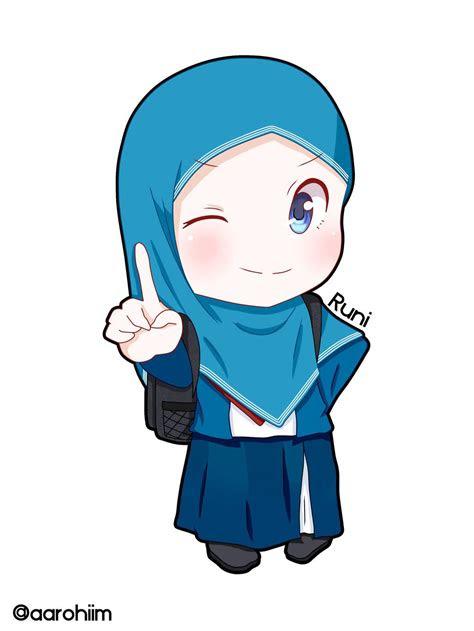 kartun muslim ceria kolek gambar