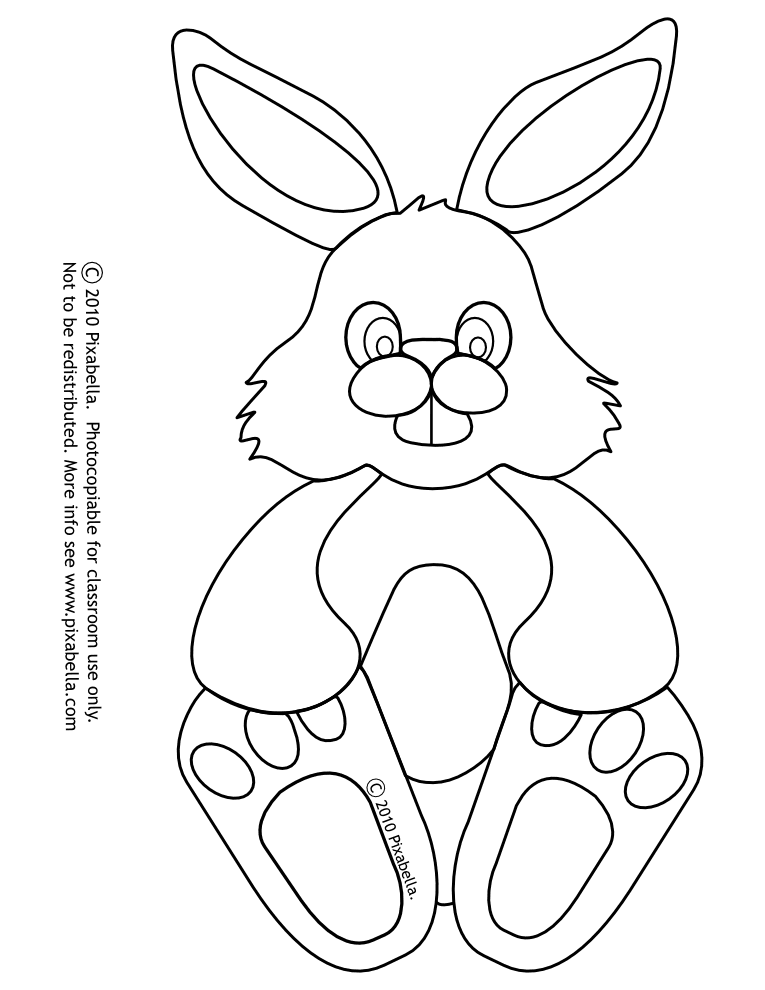 Easter Bunny Outline - Coloring Home