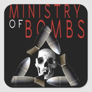 Ministry of Bombs sticker