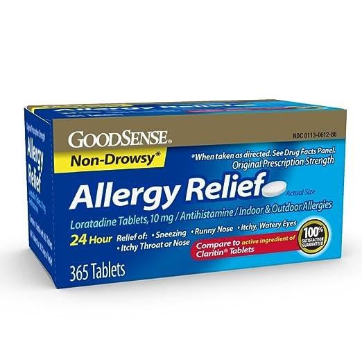 AMAZON - GoodSense Allergy Relief Loratadine Tablets, 10 mg, 365 Count