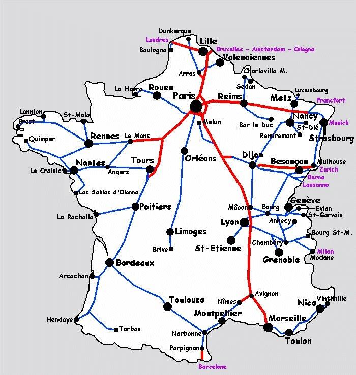 25 Inspirant Tgv Europe Carte
