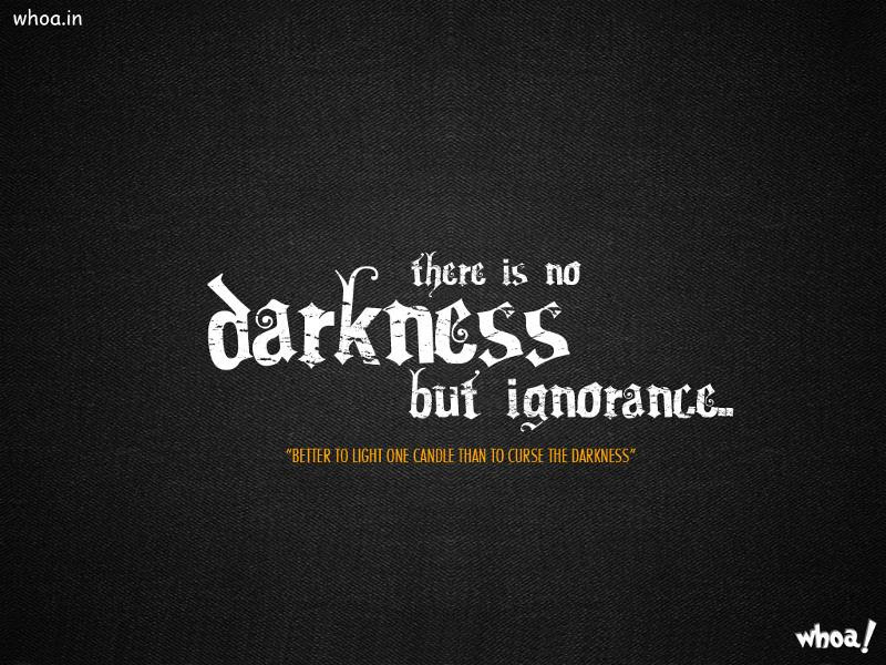 Darkness Quotes In With Dark Background