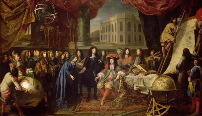 Arquivo: Colbert apresentando os membros da Royal Academy of Sciences a Louis XIV em 1667.PNG