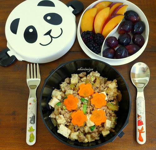 Ma Po Tofu Panda Bento Bowl by sherimiya ♥
