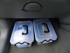 Two of my car boxes