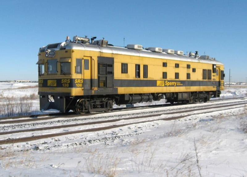 Sperry car SRS 138 near Winnipeg. Photo by Jeff Keddy