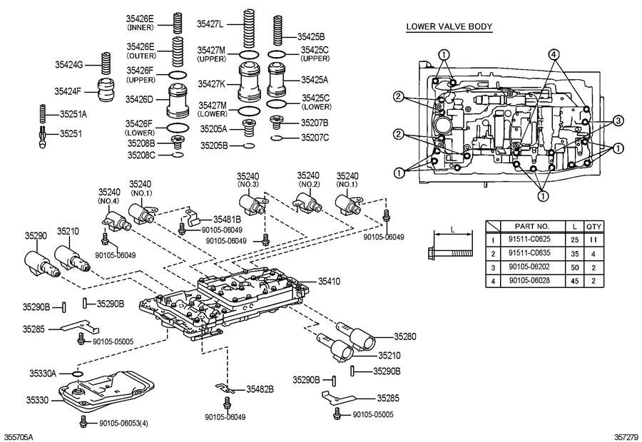 35 4l60e Transmission Valve Body Diagram