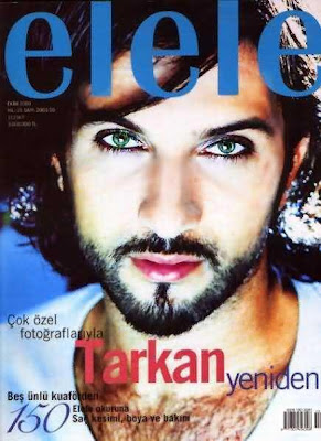 Tarkan on the cover of Elele magazine, October 2001 edition