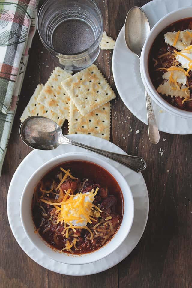 Slow Cooker Chili | Diethood