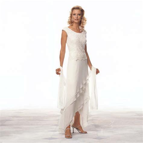 Elegant Long Formal Evening Asymmetry Prom Bridal Gown