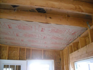Summer Kitchen Beginning Ceiling Insulation
